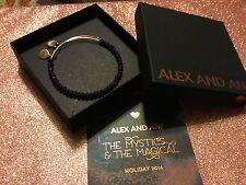 Authentic Alex And Ani Stardust brilliance purple beaded bangle bracelet New