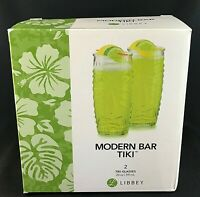 TIKI by Libbey Glass Co 20 oz COOLERS Set of 2 - NEW in BOX