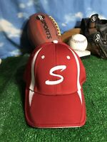 Red white S like Stanford color Fitted flex fit OC sports Hat cap h35
