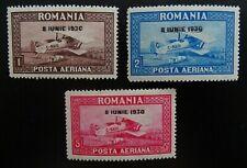 Rumänien Mi 372-374 Y ** , Sc C7-C9 MNH , Flugpostmarken , Wz 4 liegend