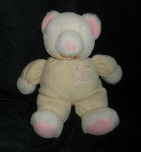 RUSS BERRIE BABY TEDDY BEAR W/ RATTLE GOD DANCED BORN STUFFED ANIMAL PLUSH TOY