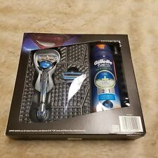 NIB Gillette Fusion Proglide Sensitive Razor + 1 Blade Ocean Breeze Shave Gel