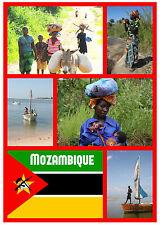 MOZAMBIQUE - RECUERDO ORIGINAL Imán de NEVERA - MONUMENTOS/Ciudades -Regalo-