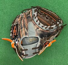 "Rawlings Heart of the Hide 32.5"" Custom Mossy Oak Camo Baseball Catchers Mitt"