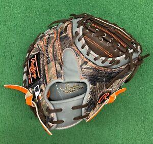 "Rawlings Heart of the Hide 32.5"" Custom Mossy Oak Camo Baseball Catchers Mitt"