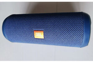Blue JBL Flip 3 Portable Wireless Speaker For Parts SOLD-AS-IS DOSNT WORK