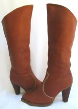 Vtg 1970/ 80's.Zodiac.Brown.Pi rate.Leather.Knee High.Boots.7.5