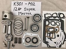 Super MASTER REBUILD KIT FOR 12HP Kohler,K301 Valves, bearings, springs, tune up