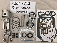 Super MASTER REBUILD KIT FOR 12HP Kohler,K301 Valves, bearings, springs, tune up