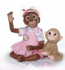 "21"" Cute Handmade Reborn Monkey Doll Soft Silicone Vinyl Flexible Toys Gift"