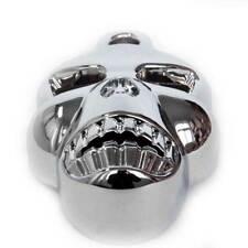 Twins Chrome Big for Harley Cowbell V-Rods Stock Motor Skull Horn Cover Davidson