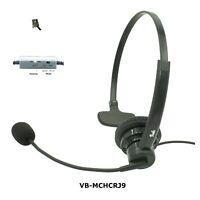 Avaya Deskphone headset, Noise Canceling Rotatable Microphone, Volume & Mute