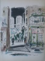 Dignimont André: Stadtviertel Notre Dame IN Paris - Lithografie Signiert - #1950