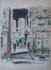 André DIGNIMONT - Quartier Notre Dame à Paris - GRAVURE signée - #1950