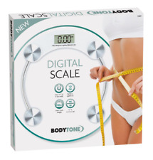 Round Digital Scale 180kg Healthy BMI Weighing Transparent Bathroom Scale