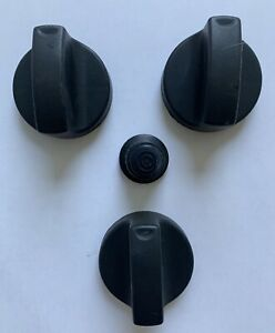 CHAR-GRILLER GAS GRILL KNOB SET, THREE (3) KNOBS, IGNITER BUTTON, ORIGINAL OEM