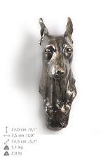 Miniature Pincher Statuette hängen an einer Wand, Bronze, Art Dog, DE