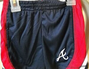 ATLANTA BRAVES UNISEX KIDS 3 TODDLER 3T RED/WHITE/BLUE SHORTS W/ STITCHED LOGO A