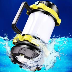 Portable LED Camping USB Rechargeable Lantern Outdoor Tent Light Torch PowerBank
