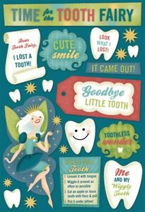 Scrapbooking Crafts KF Stickers Tooth Fairy Wiggly Toothless Wonder Look I Lost