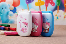 Hello Kitty Flip Cute Small Mini Mobile Cell Phone Best For Kids Girls