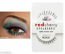 Lot 12 Pairs GENUINE RED CHERRY 27 Kinsley Under Lashes Eyelashes Bottom Lash