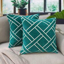 "18"" Geometric Diamond Cushion Covers Car Sofa Pillow Cases Home Decor 4Colors"