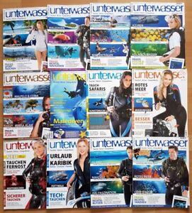12x Unterwasser 2010 Jahrgang Zeitschrift Sport Meere Tiere Urlaub Tauchen