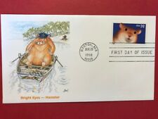 #3234 Fdc 1998 Fleetwood 32c L924 Bright Eyes - Hamster