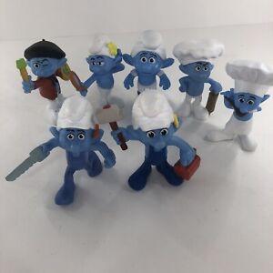 Mcdonalds Smurf PVC Figures (Lot of 7) 2011 & 2013
