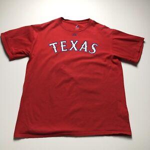 MLB Texas Rangers Baseball Cruz 17 Red Short Sleeve Fan T Shirt Adult Large L