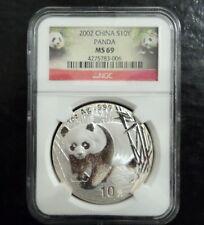 2002 China Silver 10Y Panda 1 oz Coin