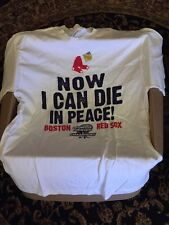 VINTAGE Original NOS 2004 Red Sox World Champions Shirt Sz Large with hologram