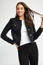 Kookai Black Denim Jacket Size 36 (8) BNWOT RRP $130