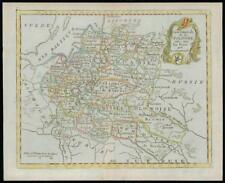 1787 - Rare Original Antique Map POLAND POLOGNE by de la Tour (5)