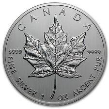 1988 1 oz Silver Canadian Maple Leaf Coin - Brilliant Uncirculated - SKU #11051