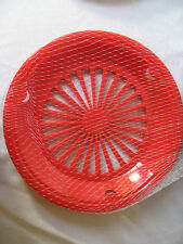 Plastic Paper Plate Holders 4 Per Package Red 3 Tab New Very Durable