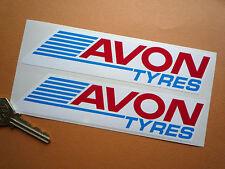 AVON TYRES Racing Car STICKERS 160mm Pair Modern Race Rally WSB Tires Bike F1 GP