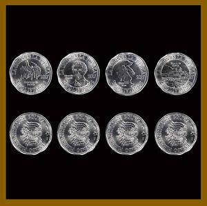 Bolivia 2 Bolivianos (4 Pcs Coin Set), 2017 Commemorative Unc