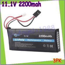Rc lipo Battery 11.1v 2200mAh 3S 3PK Transmitte battery for RC Futaba 3PK