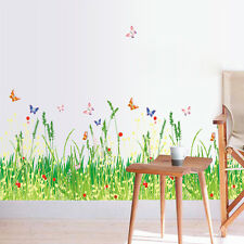 Floor/Wall Sticker Removable Butterfly & Grass Mural Decal Art Living Room Decor