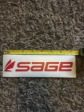 """Sage Fly Fishing Decal Sticker Red Approx 7.5"""""""