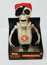 "Gloom For Your Room Dancing Musical 8"" Pirate Skeleton Yo Ho Ho Nib"