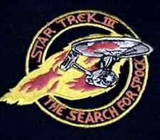 """Star Trek III Enterprise in Flames  4"""" Patch-Lincoln Ent-FREE S&H (STPAL-026)"""