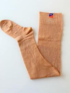 Ruth Barry Hosiery Vtg Stretchy Top NWT Cotton Stockings Thigh High Beige Sz 9
