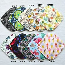 6 XS Panty Liners Bamboo Charcoal Reusable Mama Cloth Menstrual Pads XS 7inch