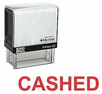 CASHED Office Self Inking Rubber Stamp - Red Ink (E-5244)