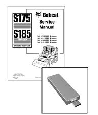 Bobcat S175 S185 TURBO Skid Steer Workshop Repair Service Manual USB Stick + DL