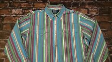 Polo Ralph Lauren Western Pearl Snap Custom Fit Cowboy Rockabilly Shirt Size M