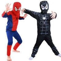 Boys Kids Superhero Fancy Dress Spiderman Cosplay Costume Party Clothes Outfits